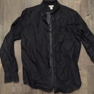 Men's reaction Kenneth Cole black jean shirt L